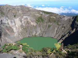 One of the beautiful craters of Irazu Volcano on a clear day